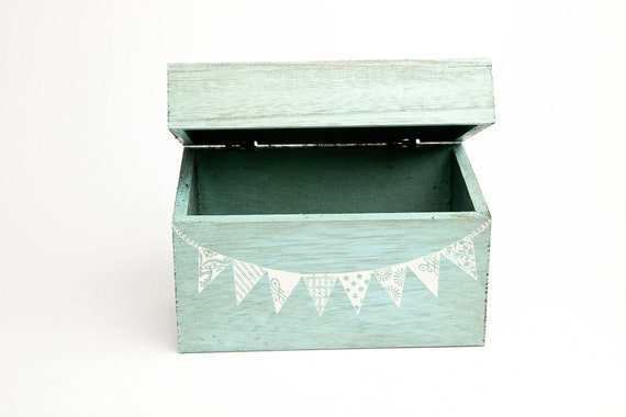 Blue Pennant Recipe Box