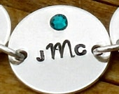 """5/8"""" sterling silver disc ADD ON a personalized  to your bracelet order from my shop"""