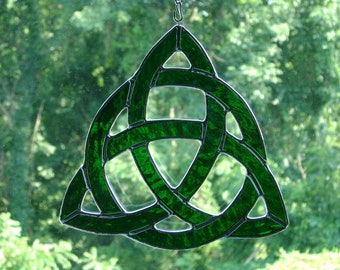 Celtic Trinity Knot with Infinite Circle Stained Glass