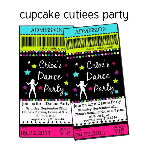 Disco Party Invites Printable is amazing invitations template