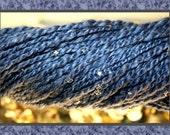 Handspun beaded Merino & Silk yarn for knitting or crocheting