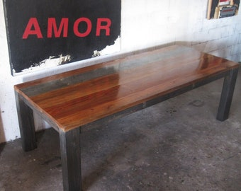 Beautiful Reclaimed Wood Dining Table. Made in Los Angeles.