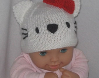 Cat and Dog Beanies - KNITTING PATTERN – pdf file by automatic download