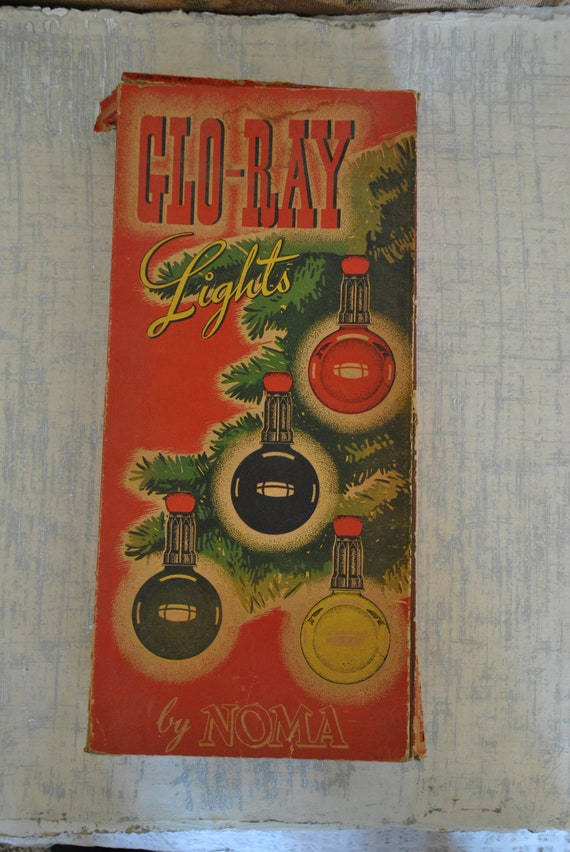 Antique Noma Glo Ray Christmas Lights In Original By