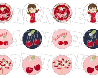 Made to Match Gymboree M2MG Cherry Cute bottlecap image sheet