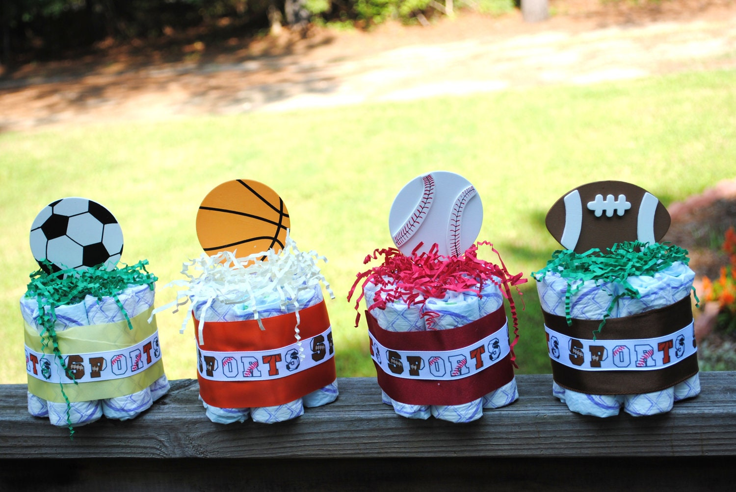 set of four small one layer sports theme by atkinsoncreations