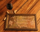 All I Want For Christmas Wine Copper Engraving