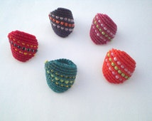 Macrame ring- tutorial. Macrame ring for summer. Do it yourself.