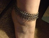 Chiming stainless steel anklet