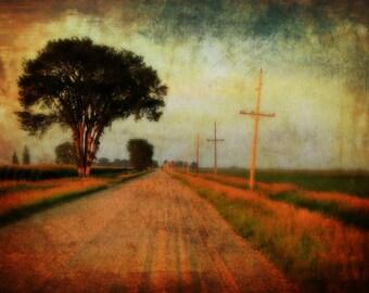 Pathway / Walk way / Gravel Road / Trail photo / Photograph / Farmhouse decor / Rustic Art