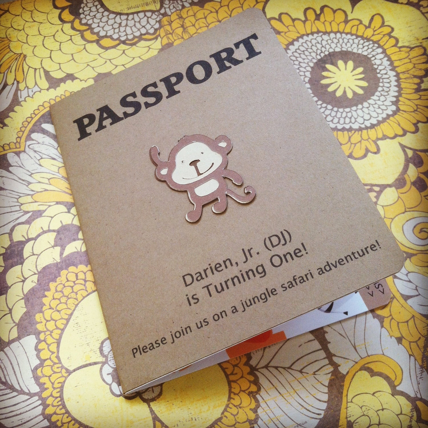 Passport Birthday Invitation Jungle Safari By PeacockParties