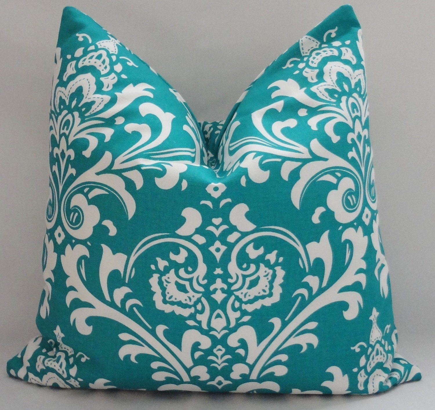 one decorative pillow turquoise damask pillow covers by
