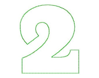 "MINI Sam Reverse Applique - NUMBERS - Machine Embroidery Design - 1.5"",2"",2.5"",3"",3.5"""