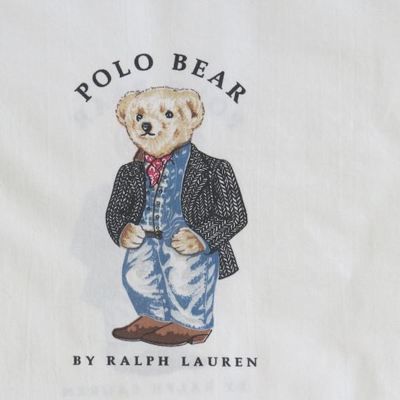 Vintage Ralph Lauren Pillowcase Preppy Cowboy Polo Bear