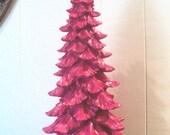 Glitter Hot Pink Christmas Tree Mantle Dorm Decor