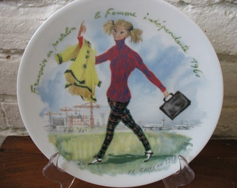 Vintage D'ARCEAU - LIMOGES Collectors Plate Francoise