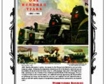 Pennsylvania Railroad PRR 100th AnniversaryTin Sign