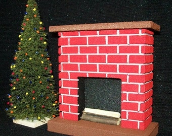 Fireplace For Doll Houses- Perfect for Scenery, Model Railroads,  Dollhouse //  Made in the  USA