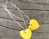 Wear Your Heart Earrings - Yellow