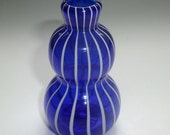 Small Bud Vase - Blue White Stripe : DISASTER RELIEF
