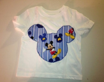 Mickey Mouse Applique Tshirt