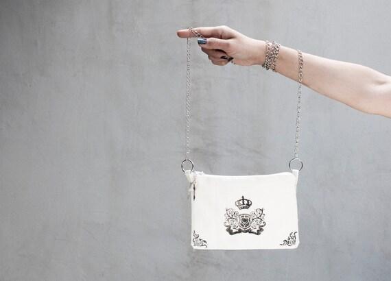 Handbags,  Handmade Small Bag with chain strap ( 7 1/2 / 5 1/2 ' , 20x14 cm)