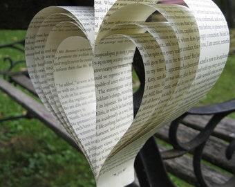 20 Pride & Prejudice Hearts. Jane Austen, Wedding Decor, Shower, Home Decor. Custom Orders Welcome.