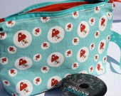 Zippered Mushroom Wedge Bag
