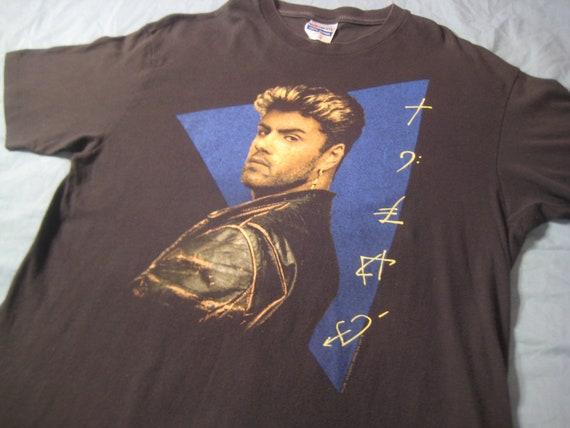 Vintage 1989 George Michael Faith t-shirt, L XL, soft and thin