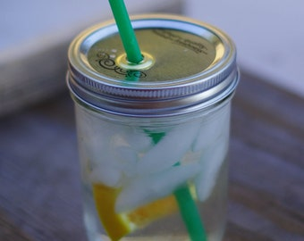 16 Ounce Wide Mouth Mason Jar Straw Cup