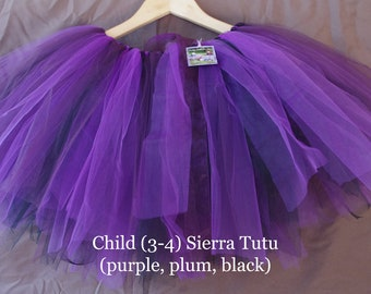 Whimsical Sierra Tutu- purple, plum, black