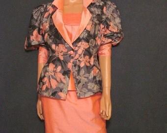 Vintage 100% Thai Silk 1980's Suit
