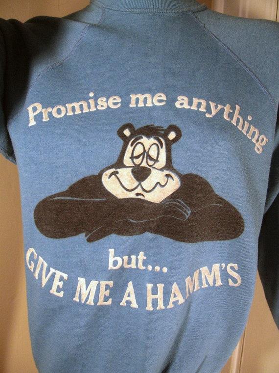 Vintage HAMM'S BEER BEAR Sweatshirt Shirt Top