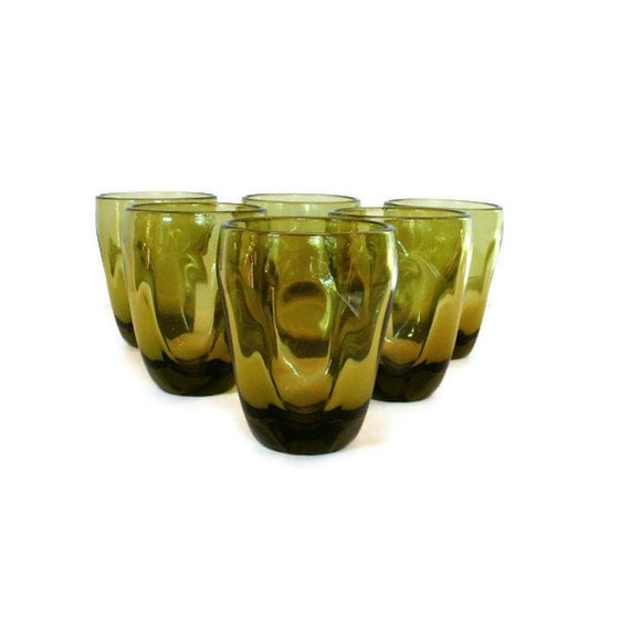 "Russel Wright Imperial Glass ""Pinch"" iced teas, set of six"