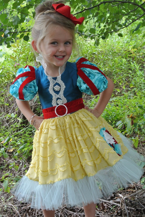 Child's Snow White Costume, Halloween Costume, Birthday Dress