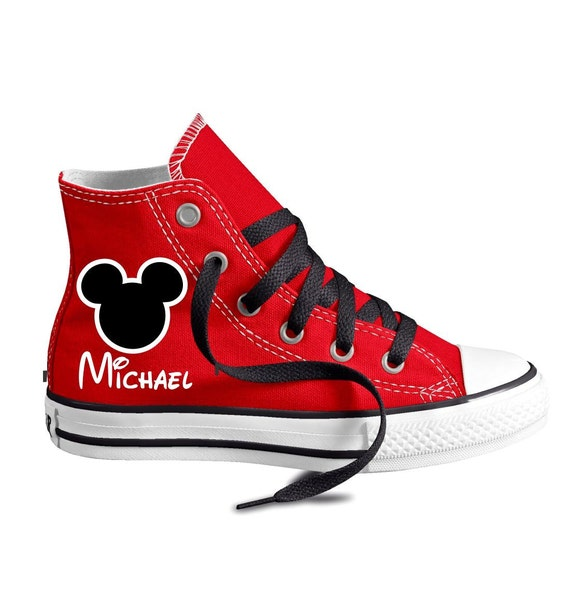 Personalized Mouse Ears Custom Converse Youth Shoes
