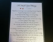 The Art of a Good Marriage card