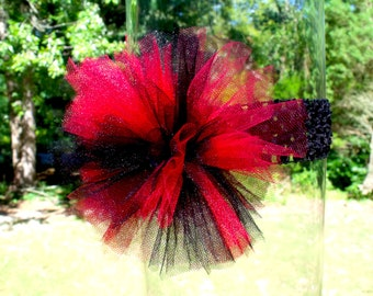 Red and Black Tutu Headband, Fits Infant - Adult