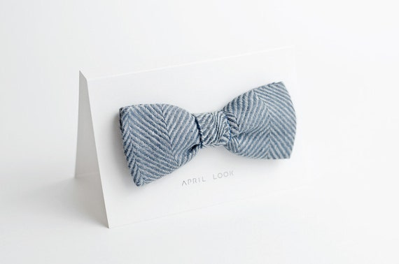 Striped bow tie - double sided