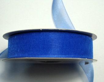 "5/8"" Organza Ribbon - Royal Blue - 25 yard Spool"