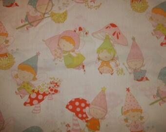 Pocket pixie By Alexander henry Fabrics pastel Pixie fairies 1 yard