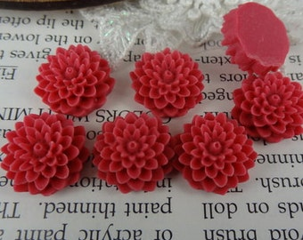 20 pcs Wholesale Beautiful Colorful Chrysanthemum Flower Resin Cabochon Cabs,CAB-04