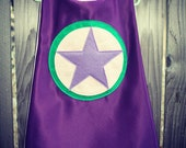 Super Hero Cape With Star in Satin fully lined