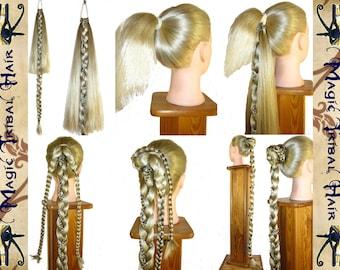 CUSTOM Fishtail attachment - UPGRADE for SINGLE Plait, Rapunzel Braid, Wig, Hair Extension, Hair Fall, Ponytail, long hair