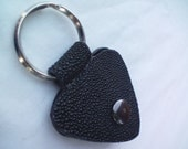 Stingray Leather Guitar Pick Holder Keychain