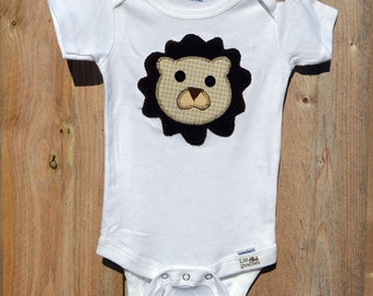 Lion Applique Onesie or Tshirt