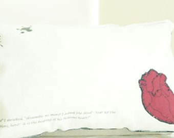 BIRTHDAY SALE! The Tell-Tale Heart: Edgar Allan Poe Inspired miniature pillow