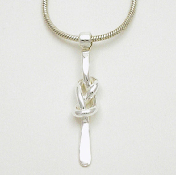figure 8 sterling silver pendant knot infinity knot