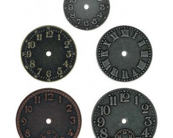 Tim Holtz, Ideaology, timepieces, clock faces, embellishment, scrapbooking, steampunk