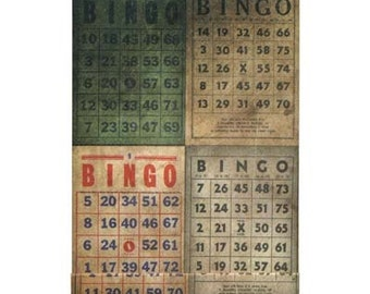 Tim Holtz District Market Matchbook Notepad, Bingo, Ideaology, 2.5X3.5 inches inches